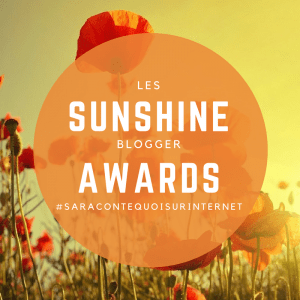 Les sunshine blogger awards